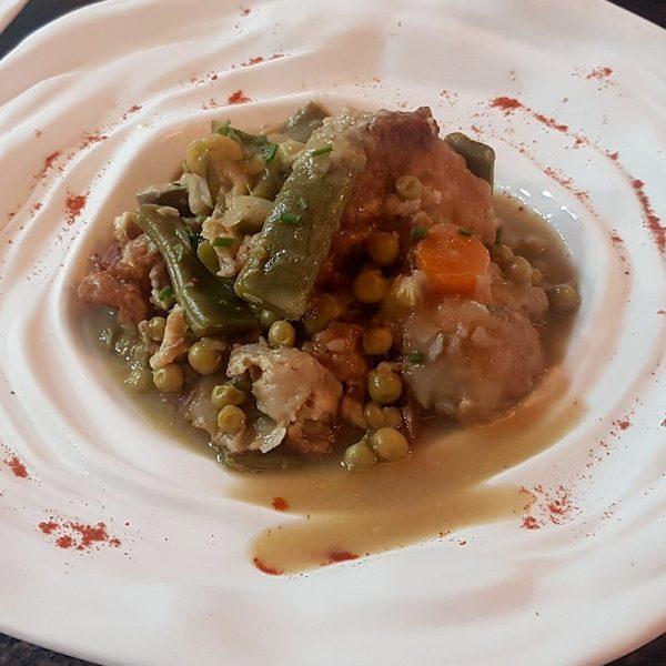 Menestra de verduras de Palencia con su rebozados