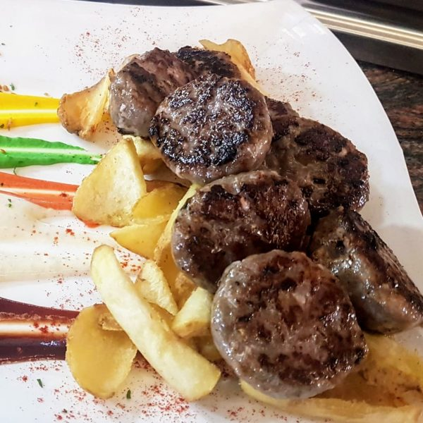 Delicias de mini hamburguesas de presa ibérica de bellota de Guijuelo
